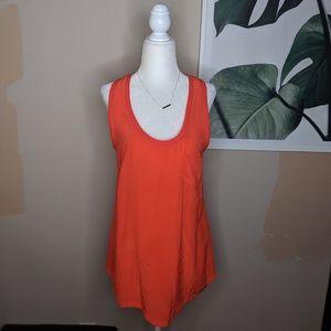 Joie Silk Racerback Tank Top Orange